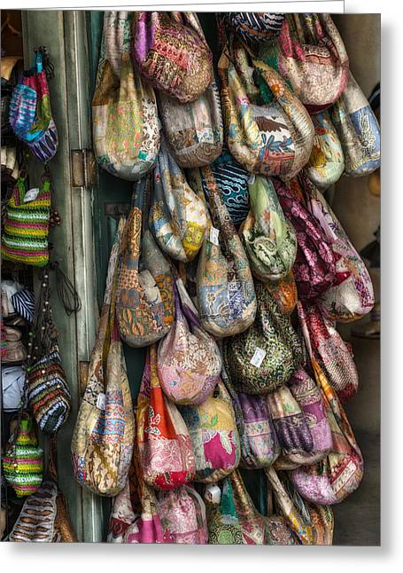 Market Bags 2 Greeting Card by Brenda Bryant