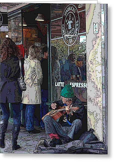Market Buskers 13 Greeting Card by Tim Allen
