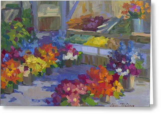Market Day Greeting Card by Diane McClary