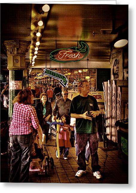 Center City Greeting Cards - Market Fresh at Pike Place Market Greeting Card by David Patterson