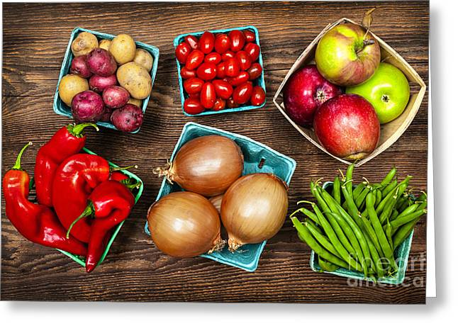 Market Fruits And Vegetables Greeting Card