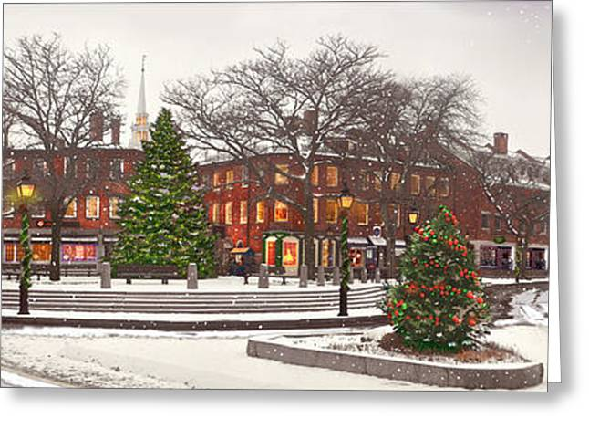 Market Square Christmas - 2013 Greeting Card by John Brown