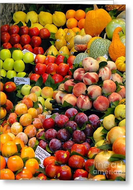 Market Time II Greeting Card by Sue Melvin