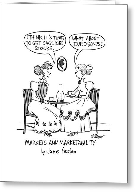 Markets And Marketability By Jane Austen Greeting Card