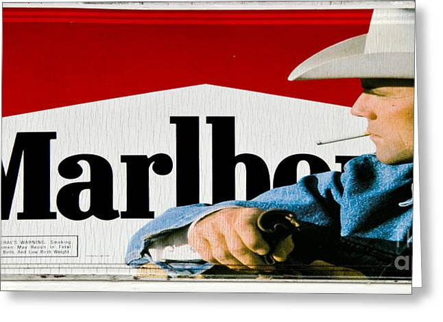 Marlboro Man Greeting Card by Paul Mashburn