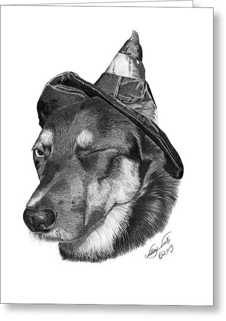 Marlee In Witch's Hat -021 Greeting Card