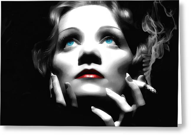 Marlene Dietrich Portrait Greeting Card