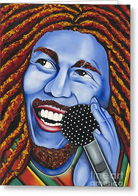 Marley Greeting Card by Nannette Harris