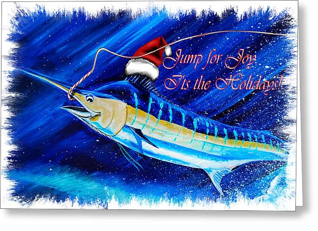 Marlin Card Greeting Card by Steve Ozment