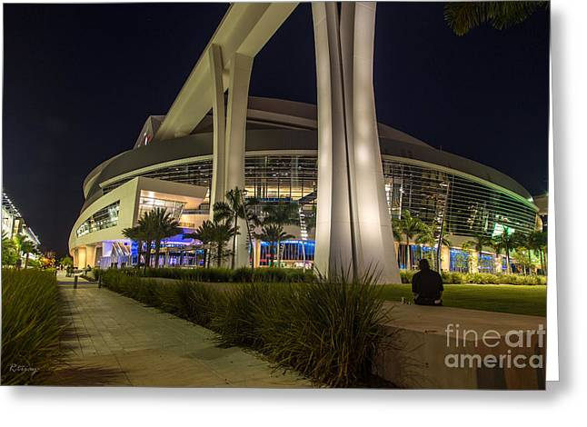 Marlins Park Stadium Miami 3 Greeting Card by Rene Triay Photography