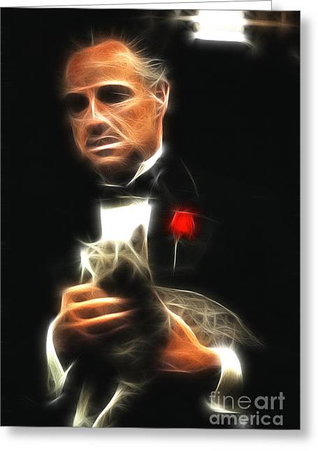 Marlon Brando Greeting Card by Doc Braham