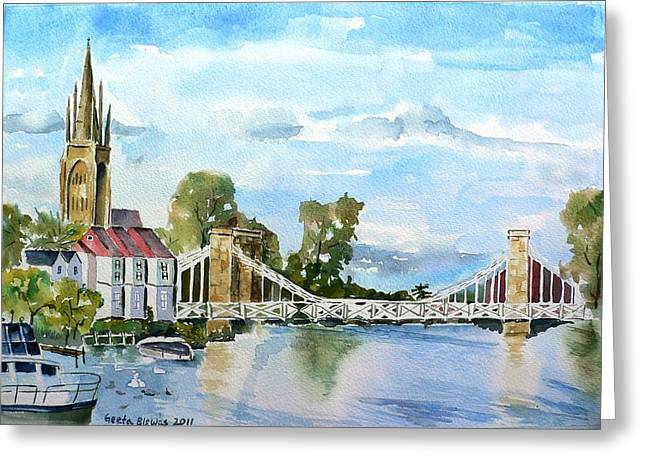 Marlow On Thames 2 Greeting Card