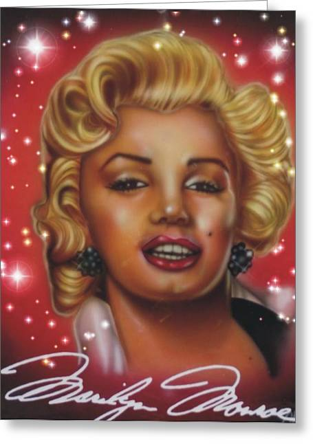 Marlyn Monroe Greeting Card by Christopher Fresquez
