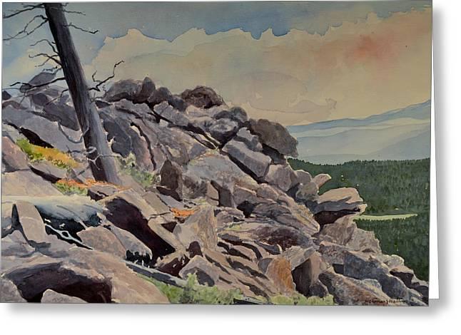 Marmot Hill Greeting Card by Thomas Stratton