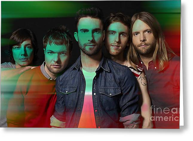 Maroon 5 Painting Greeting Card by Marvin Blaine