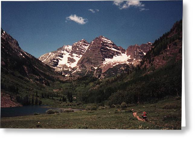 Greeting Card featuring the photograph Maroon Bells  Colorado by Bill Woodstock