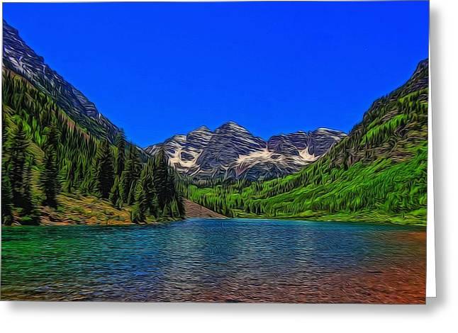 Maroon Bells Colorado In Summer Greeting Card by Dan Sproul