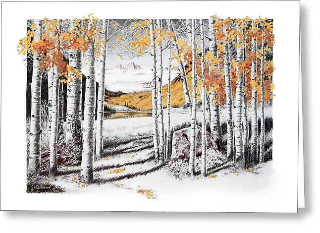 Maroon Bells Gold Greeting Card