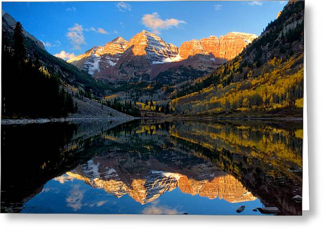 Maroon Bells Landscape Greeting Card by Ronda Kimbrow