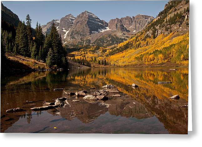 Maroon Bells Reflection Greeting Card
