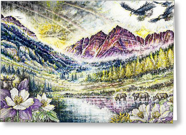 Maroon Bells  Greeting Card by Scott and Dixie Wiley