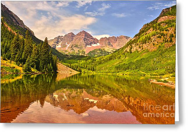 Maroon Bells Summer Greeting Card