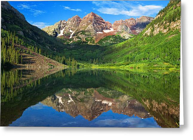 Maroon Morning Greeting Card by Darren  White
