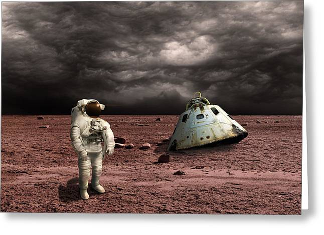 Marooned No.3h Greeting Card by Marc Ward
