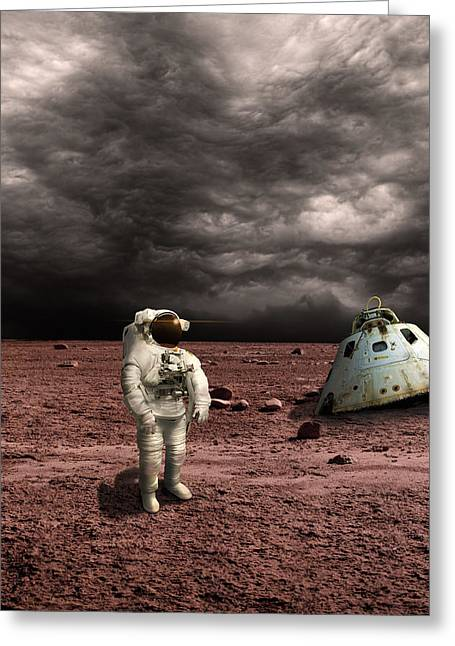 Marooned No.3v Greeting Card by Marc Ward