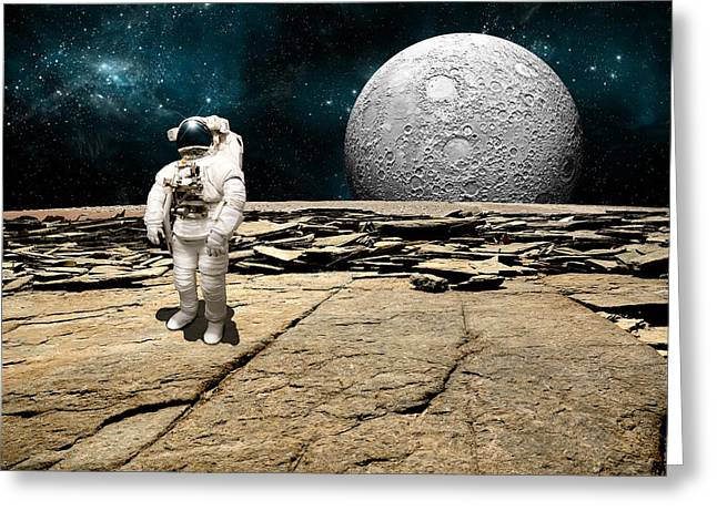 Marooned No.5 Greeting Card by Marc Ward