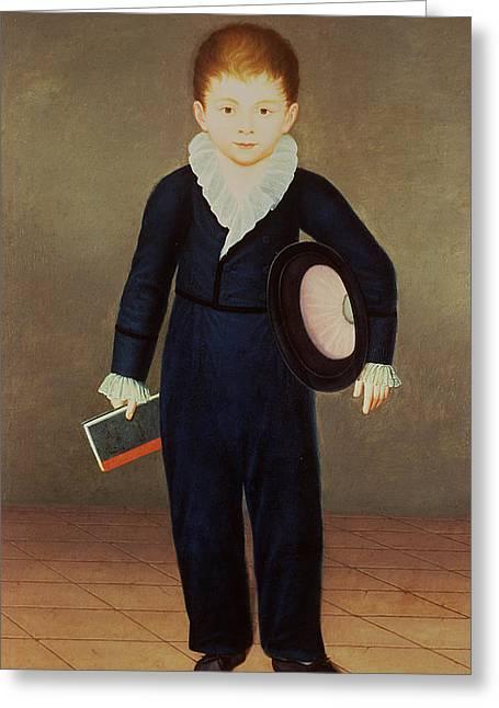 Marques De Penafiel, Son Of The Duke Of Osuna Oil On Canvas Greeting Card by Antonio Carnicero