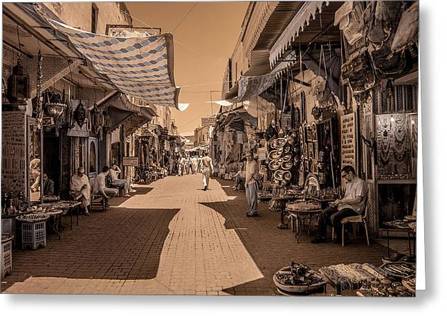 Marrackech Souk At Noon Greeting Card