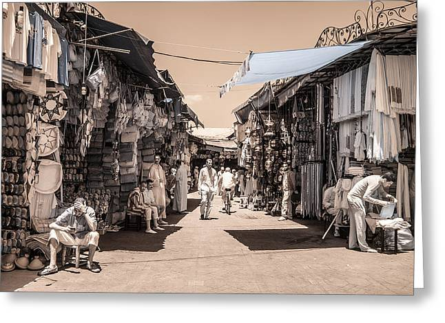 Marrakech Souk Greeting Card