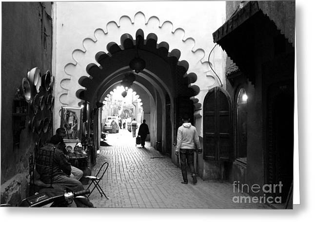 Marrakesh Medina Greeting Card by Sophie Vigneault