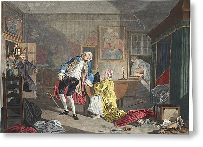 Marriage A La Mode, Plate V, The Greeting Card by William Hogarth