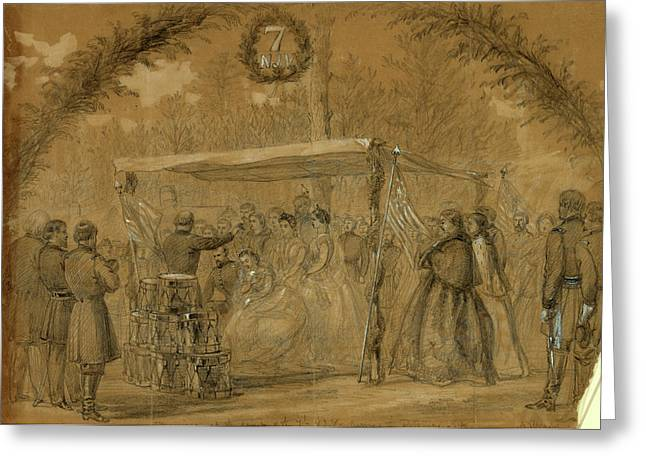 Marriage At The Camp Of The 7th N.j.v. Army Of The Potomac Greeting Card