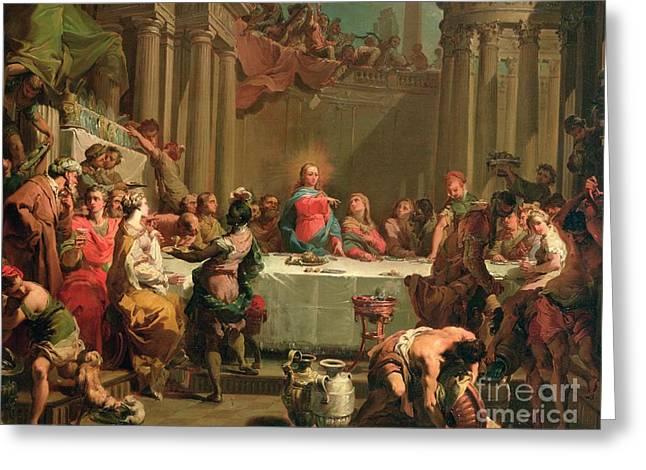 Marriage Feast At Cana Greeting Card by Gaetano Gandolfi