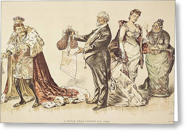 Marriage For Titles, 1889 Greeting Card by Granger