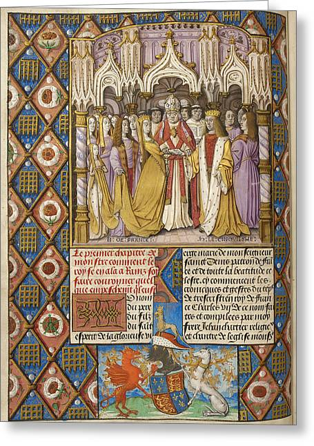 Marriage Of Henry V And Catharine Greeting Card by British Library