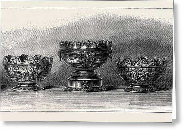 Marriage Of The Duke Of Connaught Silver Bowls Presented Greeting Card