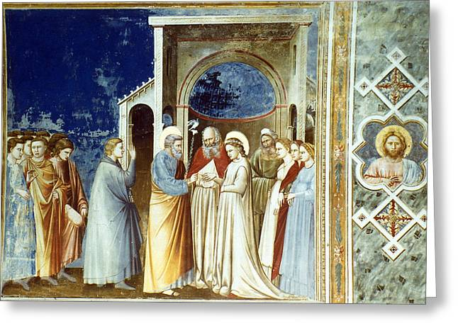 Marriage Of The Virgin Greeting Card