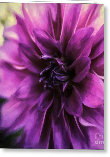 Marrianne Greeting Card by Jean OKeeffe Macro Abundance Art