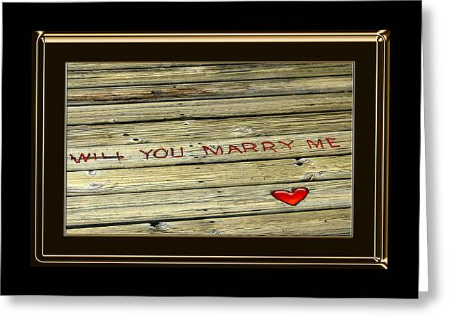 Marry Me Greeting Card by Carolyn Marshall