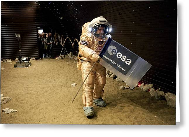 Mars-500 Landing Training Greeting Card by Science Photo Library