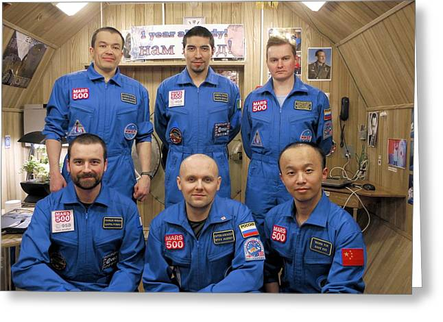 Mars-500 Project Participants Greeting Card by Science Photo Library