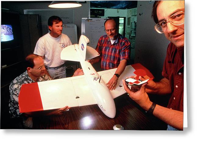 Mars Glider Model Greeting Card