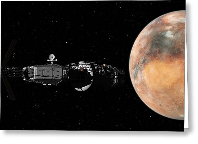 Mars Insertion A Different View Greeting Card