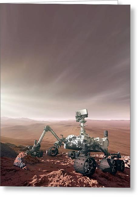 Mars Rover Curiosity Greeting Card by Detlev Van Ravenswaay