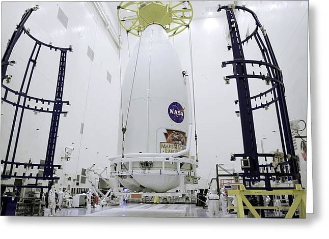 Mars Science Laboratory Spacecraft Greeting Card by Nasa