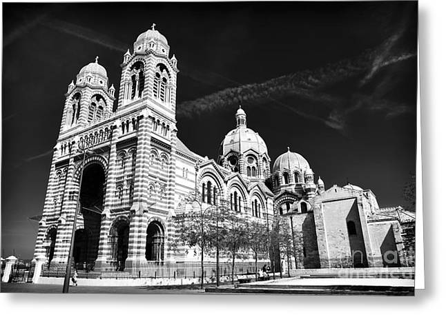 Marseille Cathedral Greeting Card by John Rizzuto